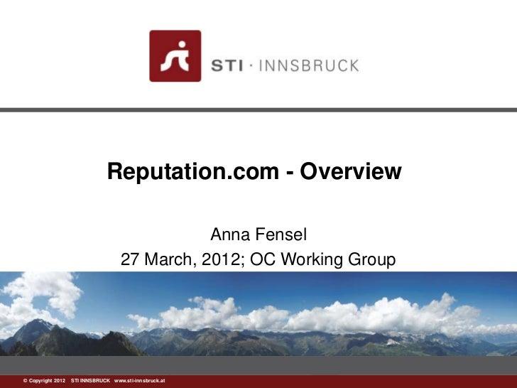 Reputation.com - Overview                                              Anna Fensel                                   27 Ma...