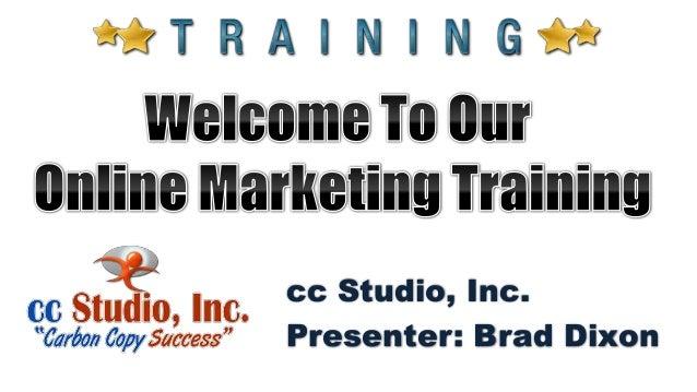 cc Studio, Inc. Presenter: Brad Dixon