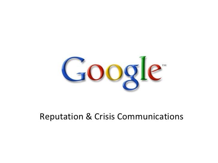 Reputation & Crisis Communications