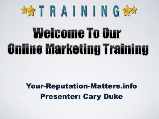 Reputation Management for Marketing