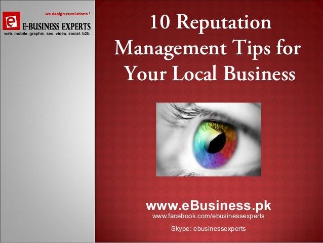 Reputation management presentation