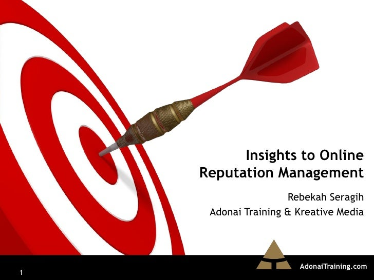 Insights to Online Reputation Management