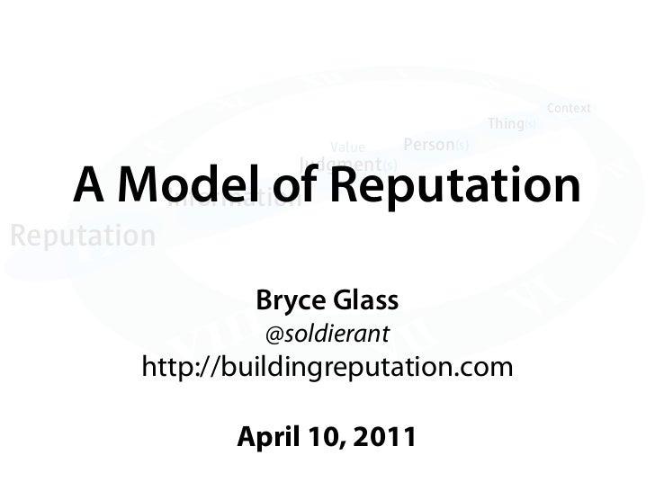A Model of Reputation
