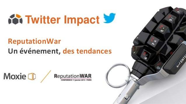 Twitter ImpactReputationWarUn événement, des tendances
