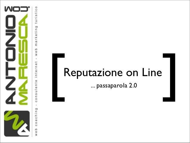 Reputazione on Line per un Hotel