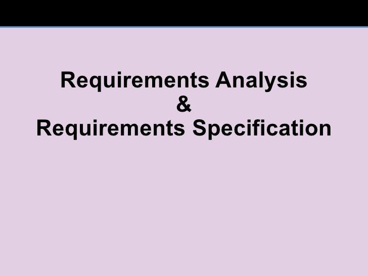 Reqs analysis