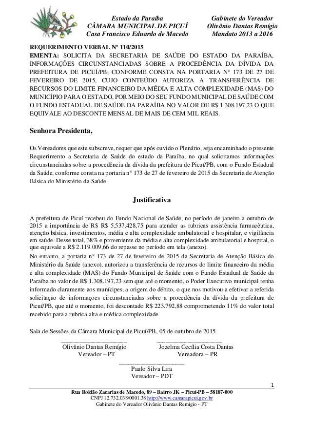 1 Rua Roldão Zacarias de Macedo, 89 – Bairro JK – Picuí-PB – 58187-000 CNPJ 12.732.038/0001.38 http://www.camarapicui.gov....