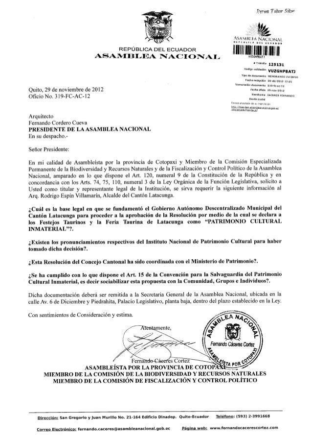 Requerimiento informacion municipio latacunga