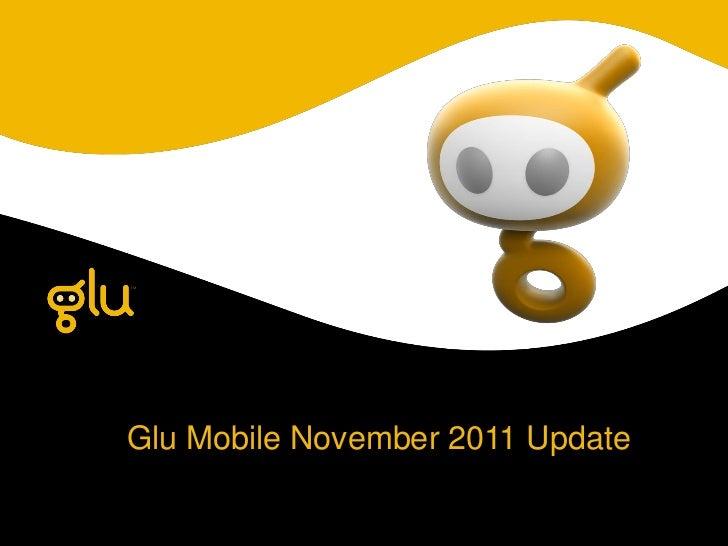Glu Mobile November 2011 Update