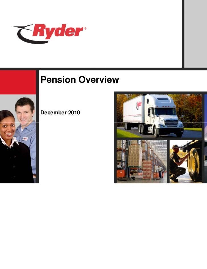 Pension OverviewDecember 2010