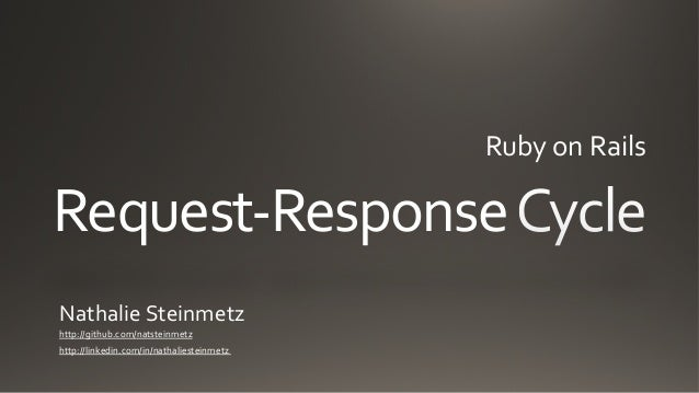 Request-Response Cycle of Ruby on Rails App