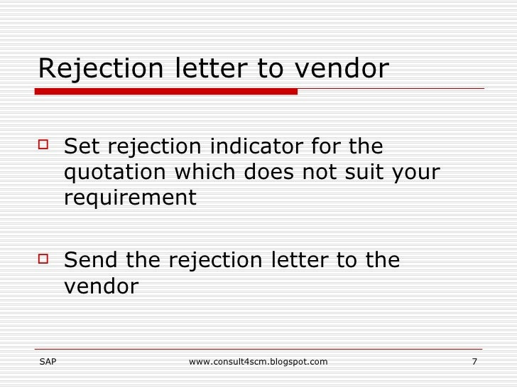 how to write rejection letters