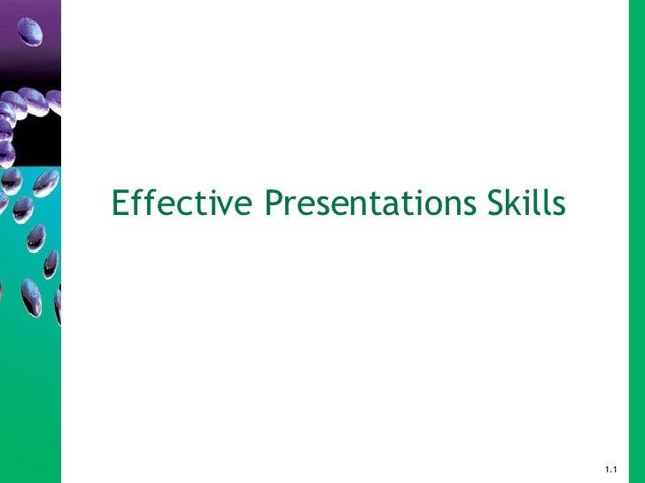 Effective Presentations Skills 1.1