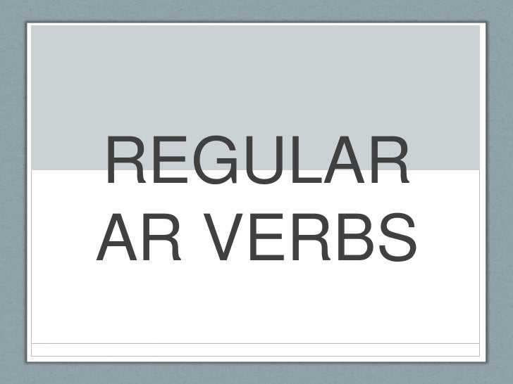 Required ar verbs
