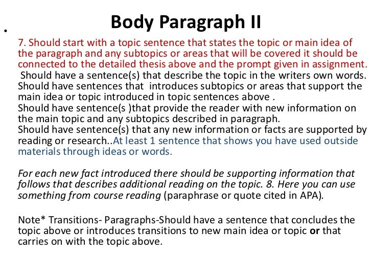 How many body paragraphs can be in an essay?