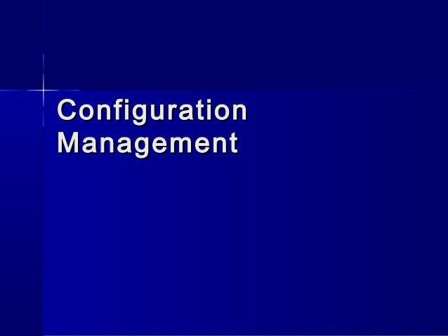 Requirement configuration management