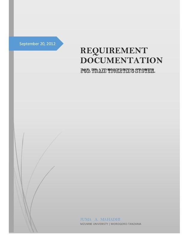 Requirement documentation