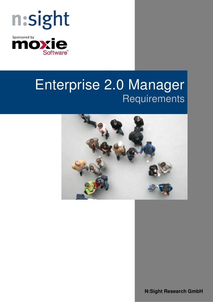 Requirements E20 Manager