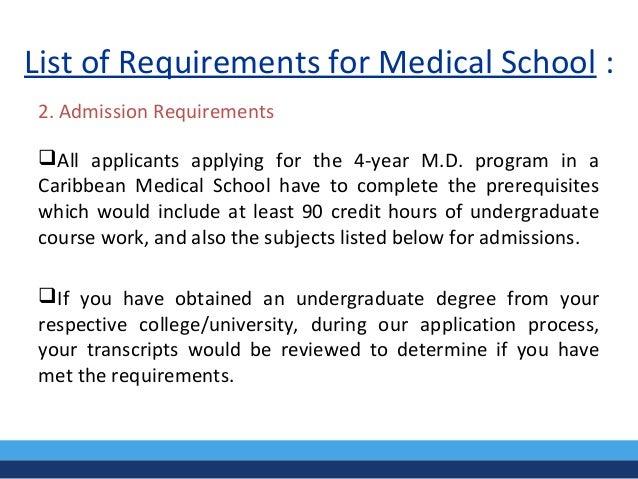 Med School Requirements?
