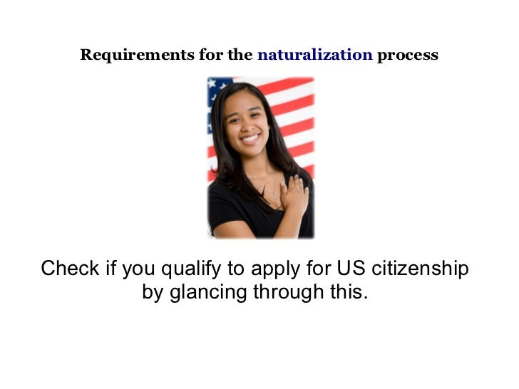 United States Citizenship Requirements