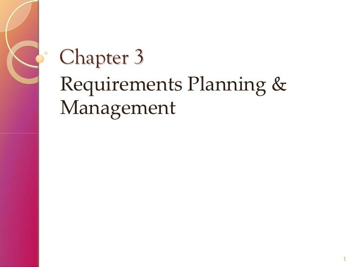 Requirements Planning & Management
