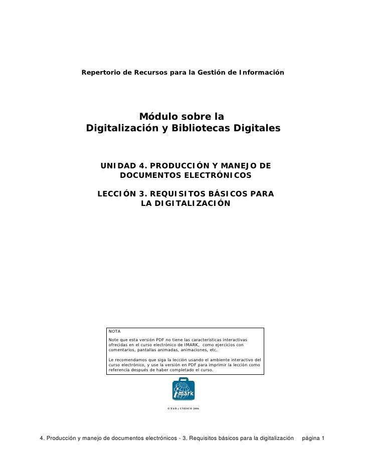 Repertorio de Recursos para la Gestión de Información                                Módulo sobre la                  Digi...