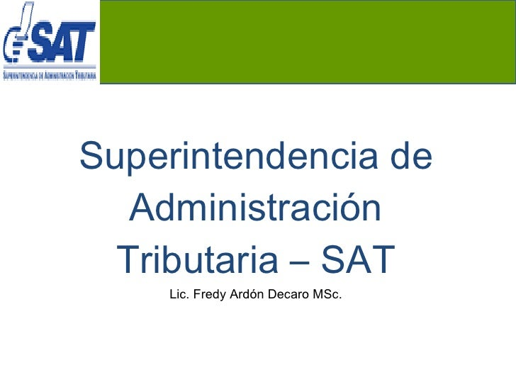 Requisitos de inscripción sat