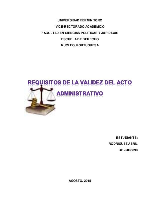 UNIVERSIDAD FERMIN TORO VICE-RECTORADO ACADEMICO FACULTAD EN CIENCIAS POLITICAS Y JURIDICAS ESCUELA DE DERECHO NUCLEO_PORT...