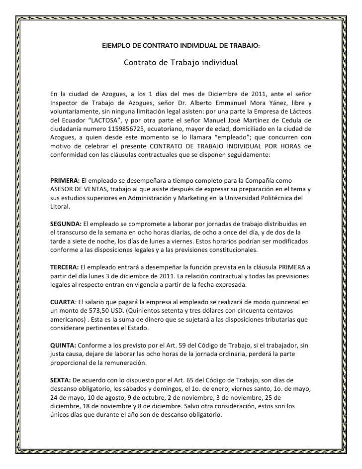 Ejemplo de contrato colectivo de trabajo tattoo design bild Contrato trabajo
