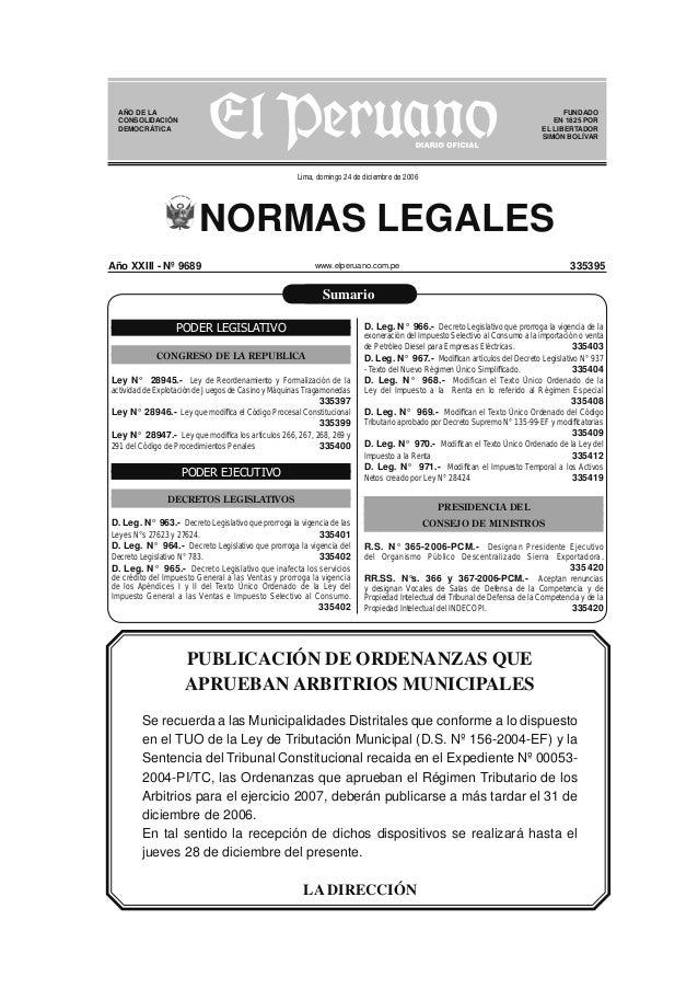 AÑO DE LA CONSOLIDACIÓN DEMOCRÁTICA  FUNDADO EN 1825 POR EL LIBERTADOR SIMÓN BOLÍVAR  Lima, domingo 24 de diciembre de 200...