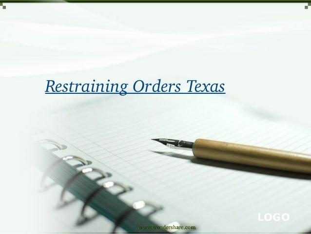 RestrainingOrdersTexas  LOGO www.wondershare.com