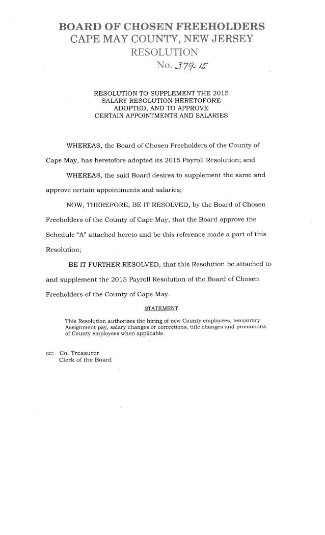 Salary Resolution from Freeholder Meeting May 12