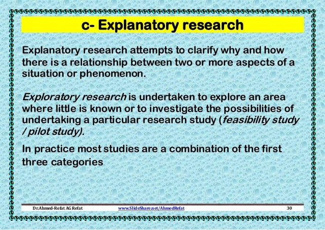 explanatory research methods Causal research, also known as explanatory research is conducted in order to   experiments are the most popular primary data collection methods in studies.