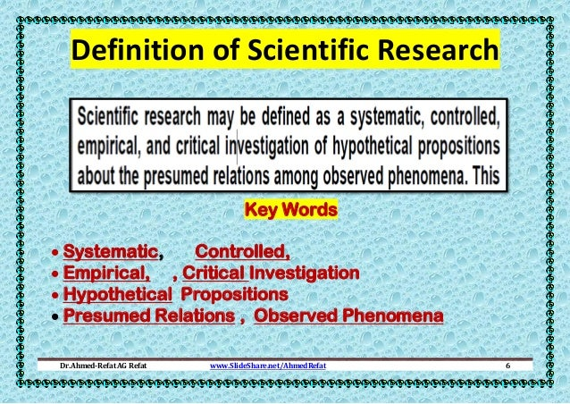 scientific method research definition Is sociological research scientific yes by definition, sociological research is the scientific means of acquiring information about various aspects of society and.