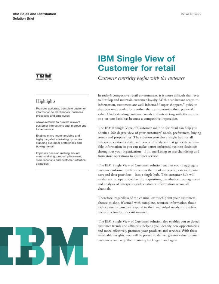 IBM Sales and Distribution                                                                                          Retail...