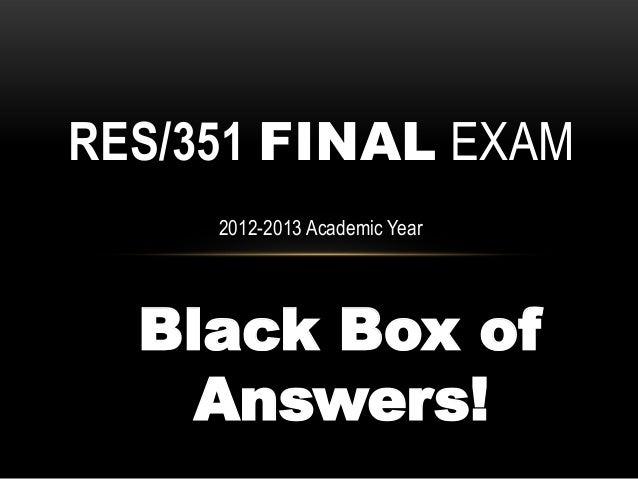 res 351 final exam