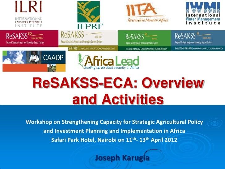 Re sakss eca - presentation at resakss-africalead workshop-ap
