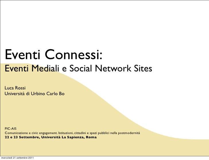 Rescatemineros: Eventi Mediali e Social Network Sites