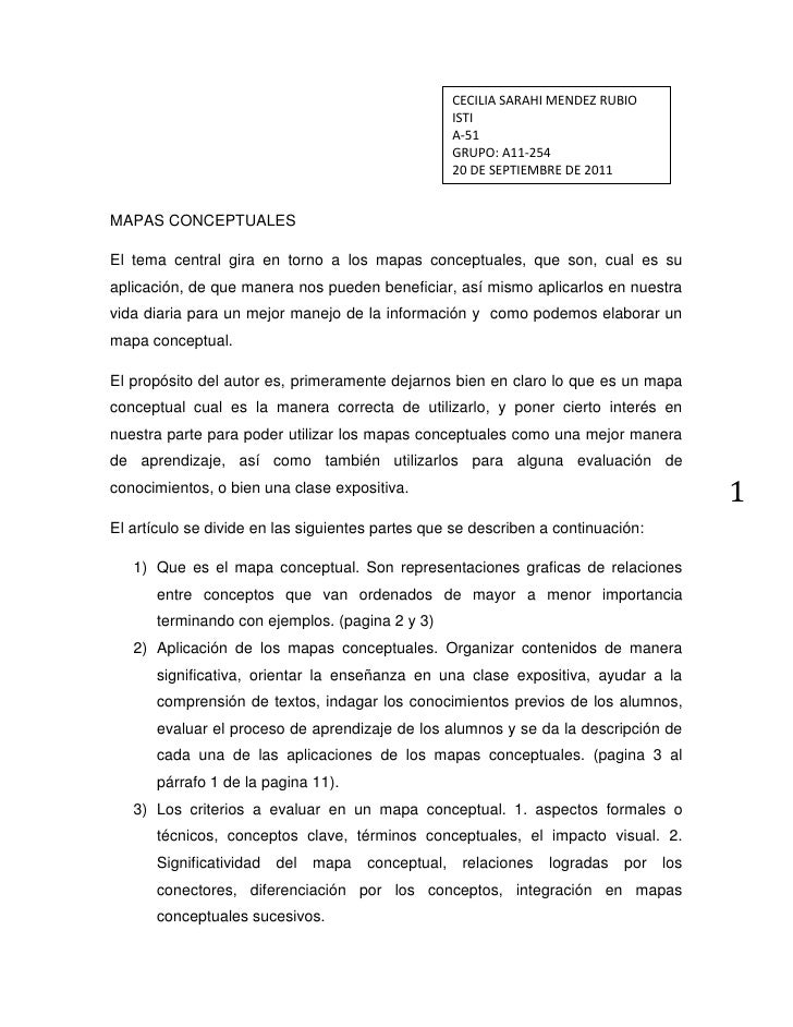 CECILIA SARAHI MENDEZ RUBIOISTIA-51GRUPO: A11-25420 DE SEPTIEMBRE DE 2011<br />MAPAS CONCEPTUALES<br />El tema central gir...