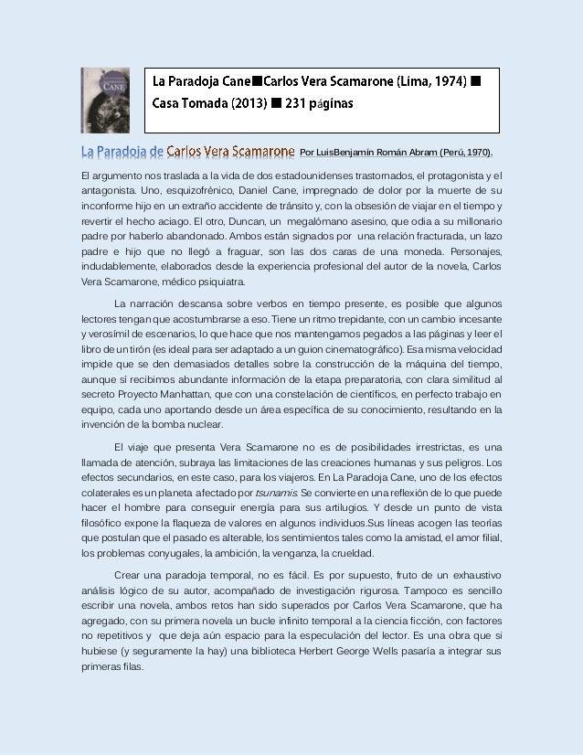 Por LuisBenjamín Román Abram (Perú, 1970). El argumento nos traslada a la vida de dos estadounidenses trastornados, el pro...