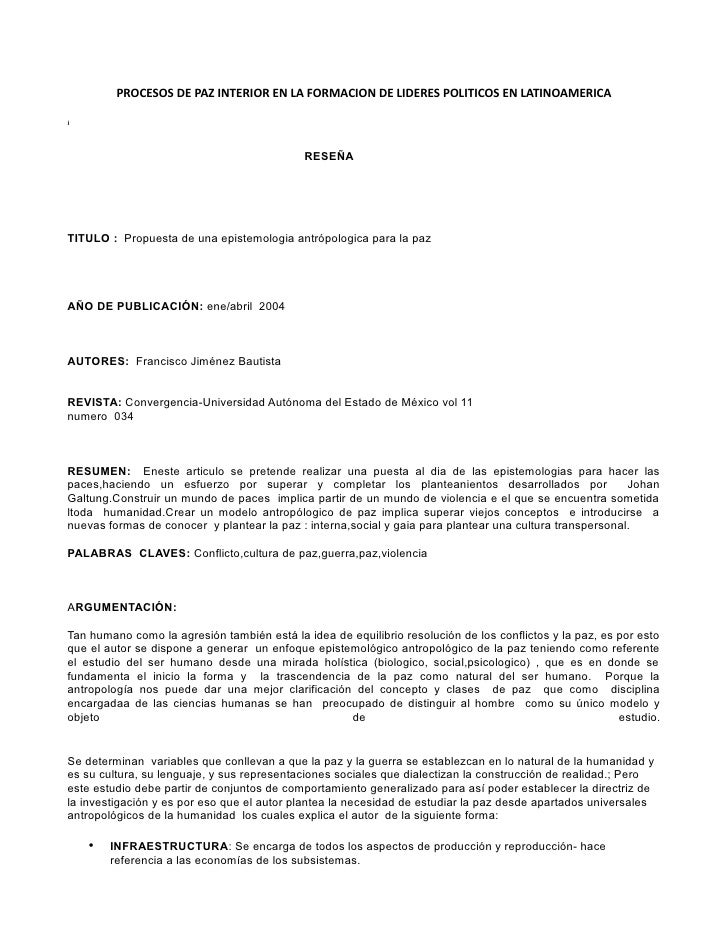 PROCESOS DE PAZ INTERIOR EN LA FORMACION DE LIDERES POLITICOS EN LATINOAMERICAi                                           ...