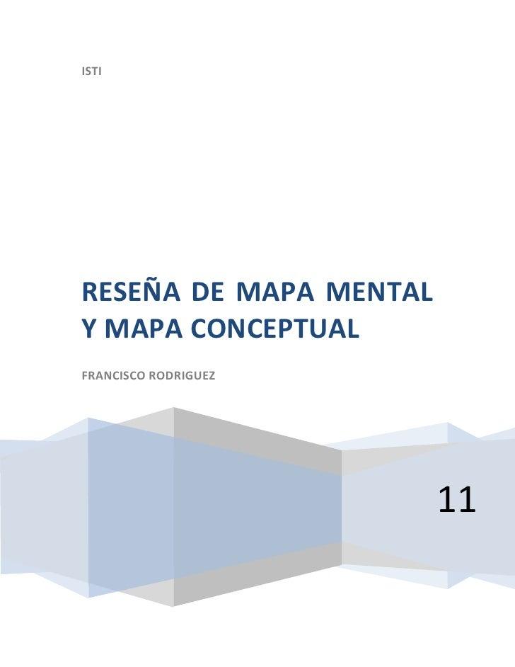 Reseña de mapa mental y mapa conceptual