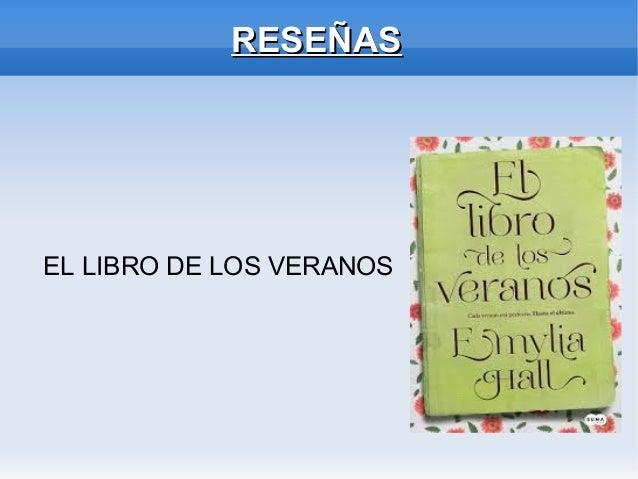 RESEÑASRESEÑAS EL LIBRO DE LOS VERANOS