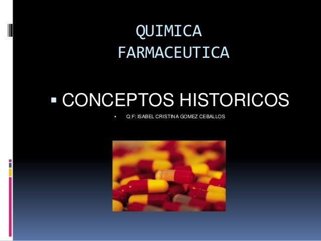 Reseña historicade la farmacia