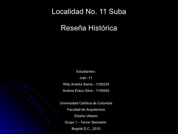 ReseñA Historica Suba
