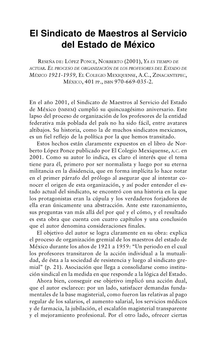 Economía, Sociedad y Territorio, vol.   IV,   núm. 13, 2003, 189-201   193   El Sindicato de Maestros al Servicio        d...