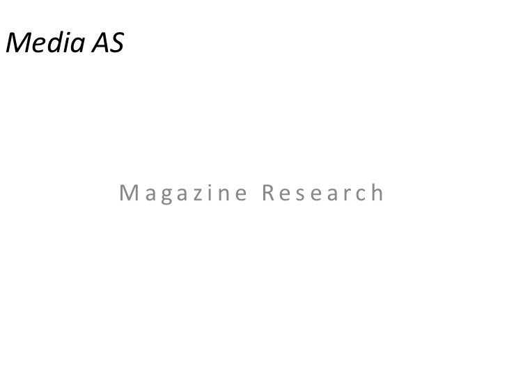 Media AS<br />Magazine Research<br />