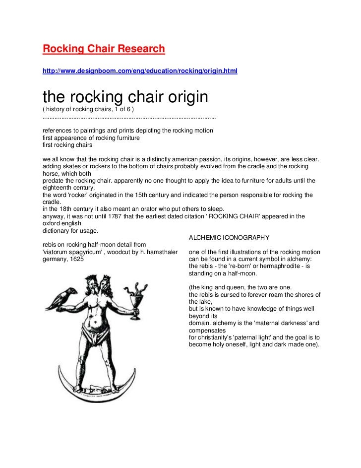Rocking Chair Research<br />http://www.designboom.com/eng/education/rocking/origin.html<br />the rocking chair origin( his...