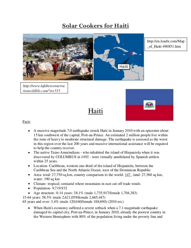 Solar Cookers for Haiti<br />http://en.loadtr.com/Map_of_Haiti-490851.htmhttp://www.lafeberconservationwildlife.com/?p=515...