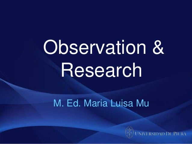 Observation and Research: Session 1 (Blended TEFL course)